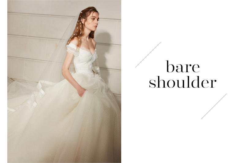 7683d79127b Wedding dress trend No. 4  Bare shoulder dresses show just the perfect  amount of skin on a wedding day. (Photo  Elie Saab
