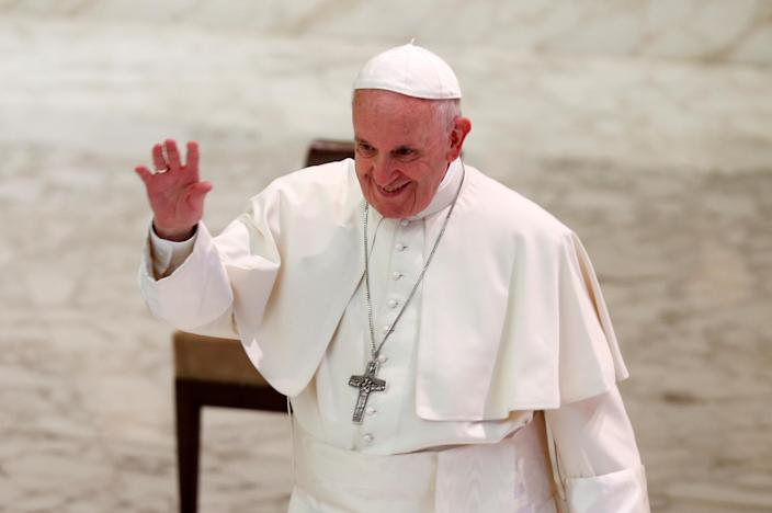 Pope Francis said gay people should not be priests or nuns (Picture: Reuters)