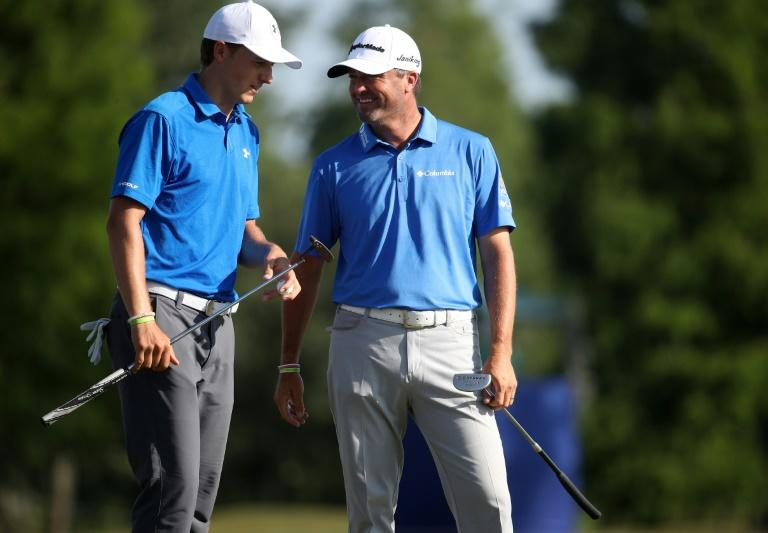 Jordan Spieth and Ryan Palmer share the lead at the PGA Zurich Classic on six-under-par 66