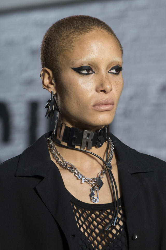 "<p><i>""Versus"" choker necklace from the SS17 Versus Versace collection. (Photo: ImaxTree) </i></p>"