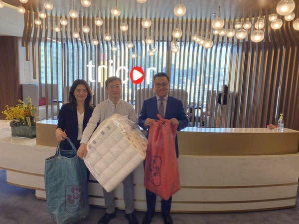 From left to right: Judy Wong (Group General Counsel and Chief Compliance Officer), Harold Yip (Founder of Mil Mill), Joe Wan (CEO of Tricor Hong Kong)