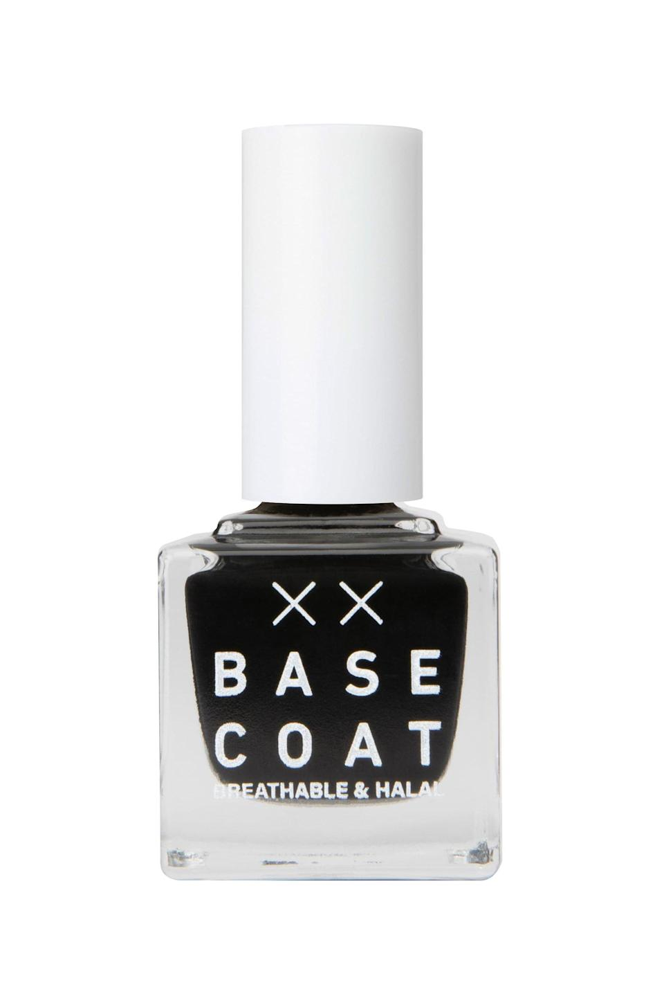 """<p><strong>Base Coat </strong></p><p>nordstrom.com</p><p><strong>$15.00</strong></p><p><a href=""""https://go.redirectingat.com?id=74968X1596630&url=https%3A%2F%2Fwww.nordstrom.com%2Fs%2Fbase-coat-breathable-halal-nail-polish%2F5436004&sref=https%3A%2F%2Fwww.marieclaire.com%2Fbeauty%2Fg3965%2Ffall-nail-colors%2F"""" rel=""""nofollow noopener"""" target=""""_blank"""" data-ylk=""""slk:SHOP IT"""" class=""""link rapid-noclick-resp"""">SHOP IT</a></p><p>If all-black-everything is your vibe, try this ultra glossy finish that will dry down in minutes. If you really want to look badass, stack a bunch of your favorite rings on to accompany this classic color. </p>"""