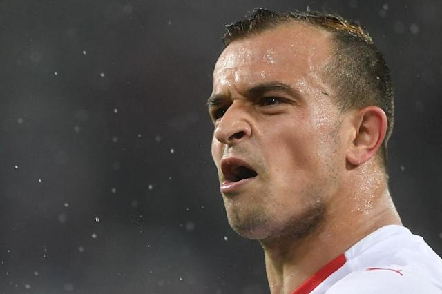 Xherdan Shaqiri's long-range shot earned Switzerland a crucial victory (AFP Photo/OZAN KOSE)