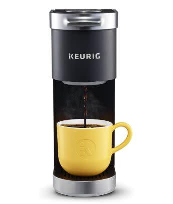 "We found this Keurig K-Mini Plus Coffee Maker for $53 on <a href=""https://amzn.to/32s8MyR"" rel=""nofollow noopener"" target=""_blank"" data-ylk=""slk:Amazon"" class=""link rapid-noclick-resp"">Amazon</a>."