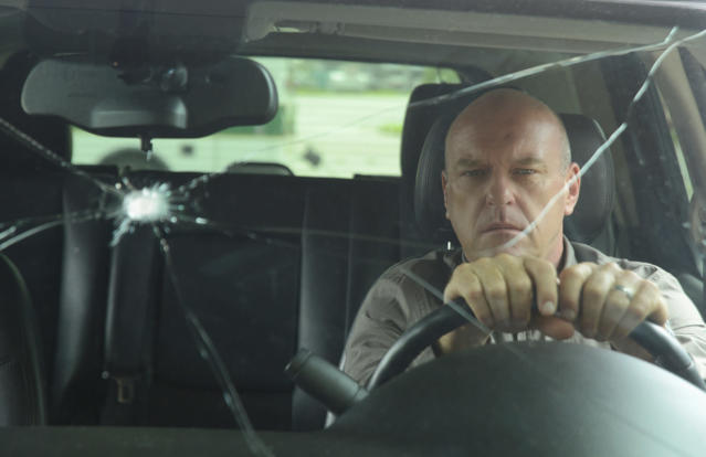"""Speak of the Devil"" - Big Jim (Dean Norris) turns the town against Barbie when the truth about his past is revealed on ""Under the Dome."""