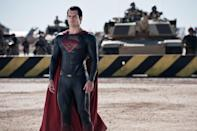 """This film publicity image released by Warner Bros. Pictures shows Henry Cavill as Superman in """"Man of Steel."""" (AP Photo/Warner Bros. Pictures, Clay Enos)"""