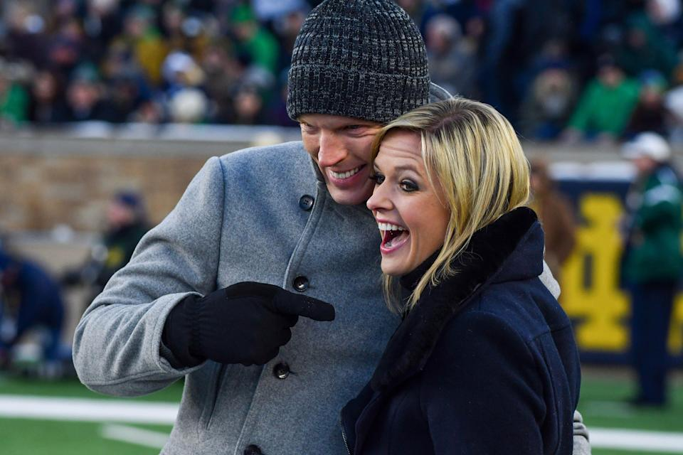 """Chris Simms and Kathryn Tappen will co-host a new postgame show following """"Sunday Night Football."""""""