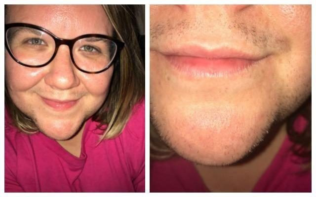 Leah posted this snap of her with three-day growth, revealing she's thought about growing a beard. Photo: Instagram/happyandhairy