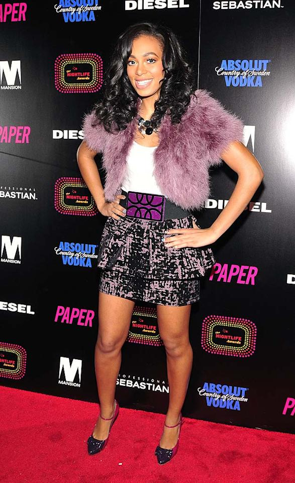 "Solange Knowles strikes again in yet another Muppet-inspired top. Eugene Gologursky/<a href=""http://www.wireimage.com"" target=""new"">WireImage.com</a> - November 16, 2008"