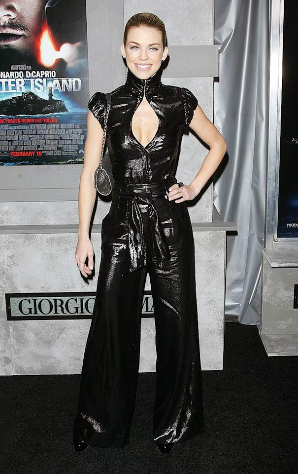 "We love AnnaLynne McCord's willingness to take fashion risks, but the ""90210"" baddie should jettison this tacky jumpsuit in favor of a classier outfit the next time she attends an A-list movie premiere. Jim Spellman/<a href=""http://www.wireimage.com"" target=""new"">WireImage.com</a> - February 17, 2010"