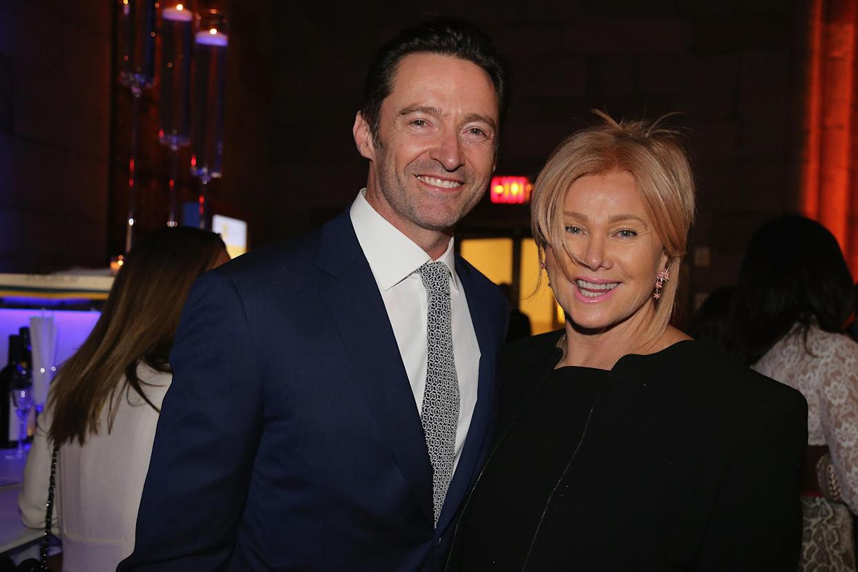 Hugh Jackman and his wife, Deborra-Lee Furness, attend the 2018 Windward School Benefit at Cipriani 42nd Street on March 10, 2018, in New York City. The Windward School specializes in educating students with dyslexia and language-based learning disabilities. (Al Pereira/Getty Images)