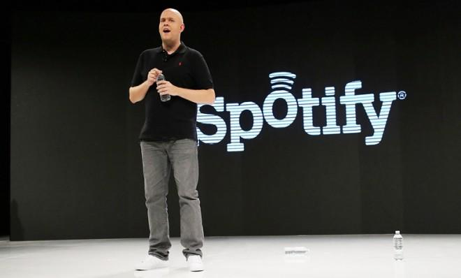 Spotify's founder and CEO Daniel Elk at a press event on Dec. 6, 2012.
