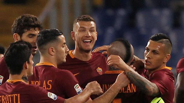 Edin Dzeko scored twice against Empoli to take his goal tally in all competitions to 33 - more than any Roma player has scored in a season.