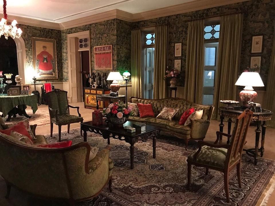 """Eleanor Young's (Michelle Yeoh) house in the film """"Crazy Rich Asians"""". (Photo: Warner Bros.)"""