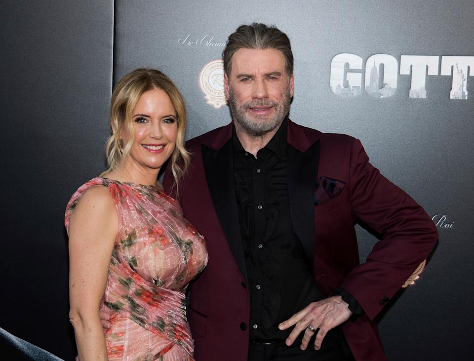 """Kelly Preston and John Travolta attend the premiere of """"Gotti"""" at the SVA Theatre on Thursday, June 14, 2018, in New York. (Photo by Charles Sykes/Invision/AP) (Photo: Charles Sykes/Invision/AP)"""