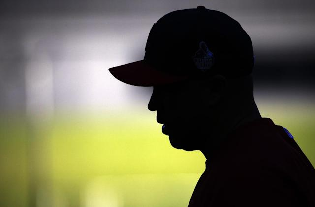 St. Louis Cardinals' Carlos Beltran waits to hit during batting practice before Game 3 of baseball's World Series against the Boston Red Sox Saturday, Oct. 26, 2013, in St. Louis. (AP Photo/Matt Slocum)