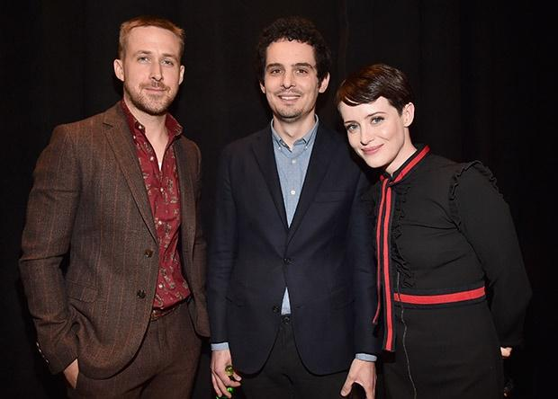 Ryan Gosling, director Damien Chazelle and actor C