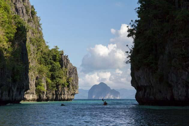 <strong>El Nido, Palawan.</strong> Dubbed as one of the best beach and island destinations in the Philippines by CNNGo, El Nido is  blessed with amazing views you want to wake up to every day—eye-popping limestone formations rising out of unbelievable clear waters, romantic lagoons, and virgin forests. You can easily forget the time and spend your days snorkelling, kayaking, or sunbathing on one of its several deserted white beaches.