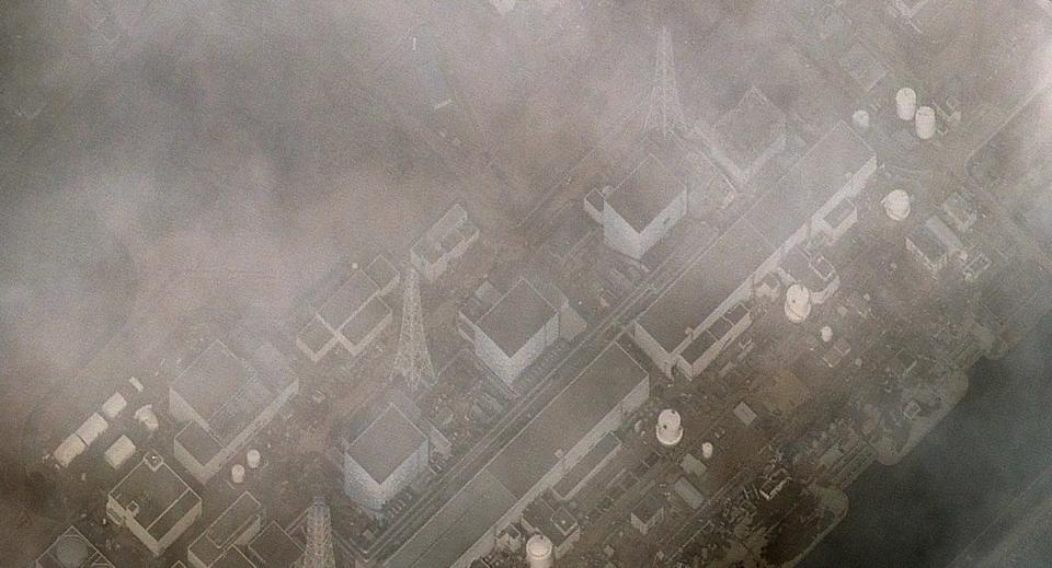 <p>FILE PHOTO: In this satellite view, damage caused by an explosion in the building housing reactor 1 at the Fukushima I Dai Ichi Nuclear Power plant can be seen after an 8.9 magnitude earthquake and subsequent tsunami on March 12, 2011 in Okuma, Japan. (Photo by DigitalGlobe via Getty Images)</p>