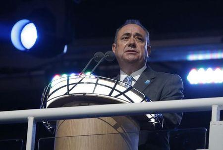 First Minister of Scotland Alex Salmond speaks during the opening ceremony for the 2014 Commonwealth Games at Celtic Park in Glasgow