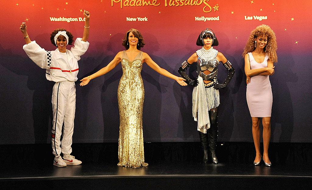 NEW YORK, NY - FEBRUARY 07:  Madame Tussauds unveils four wax figures of Whitney Houston-- the first time four figures of the same individual have been simultaneously released-- on February 7, 2013 in New York City.  (Photo by Jennifer Graylock/Getty Images for Madame Tussauds)