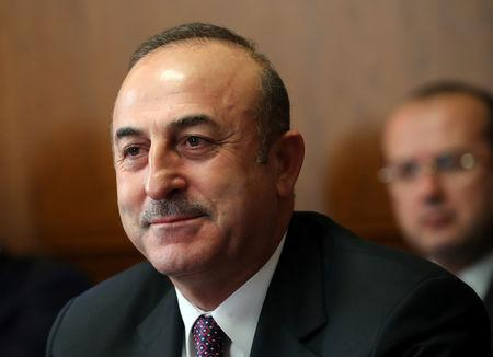 FILE PHOTO: Turkish Foreign Minister Cavusoglu attends a meeting on forming a constitutional committee in Syria at the United Nations in Geneva