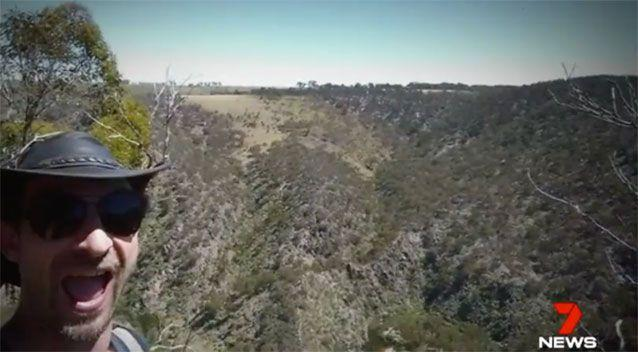 Emergency services hoped selfies Mr Occhipinti took on his hike would lead to his location. Source: 7 News