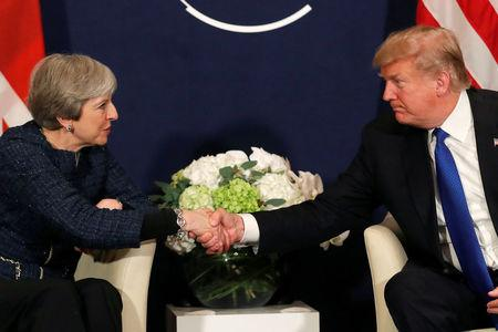 Donald Trump insists that he 'really likes' Theresa May