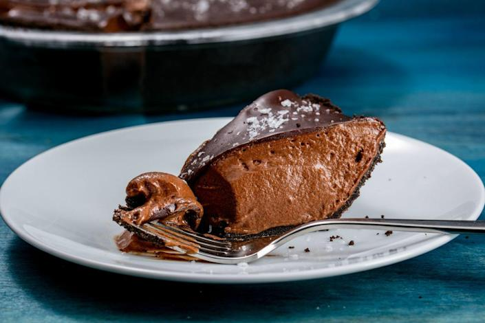 """<p>Sinfully good.</p><p>Get the recipe from <a href=""""https://www.delish.com/cooking/recipe-ideas/recipes/a50130/death-by-chocolate-pie-recipe/"""" rel=""""nofollow noopener"""" target=""""_blank"""" data-ylk=""""slk:Delish"""" class=""""link rapid-noclick-resp"""">Delish</a>.</p>"""