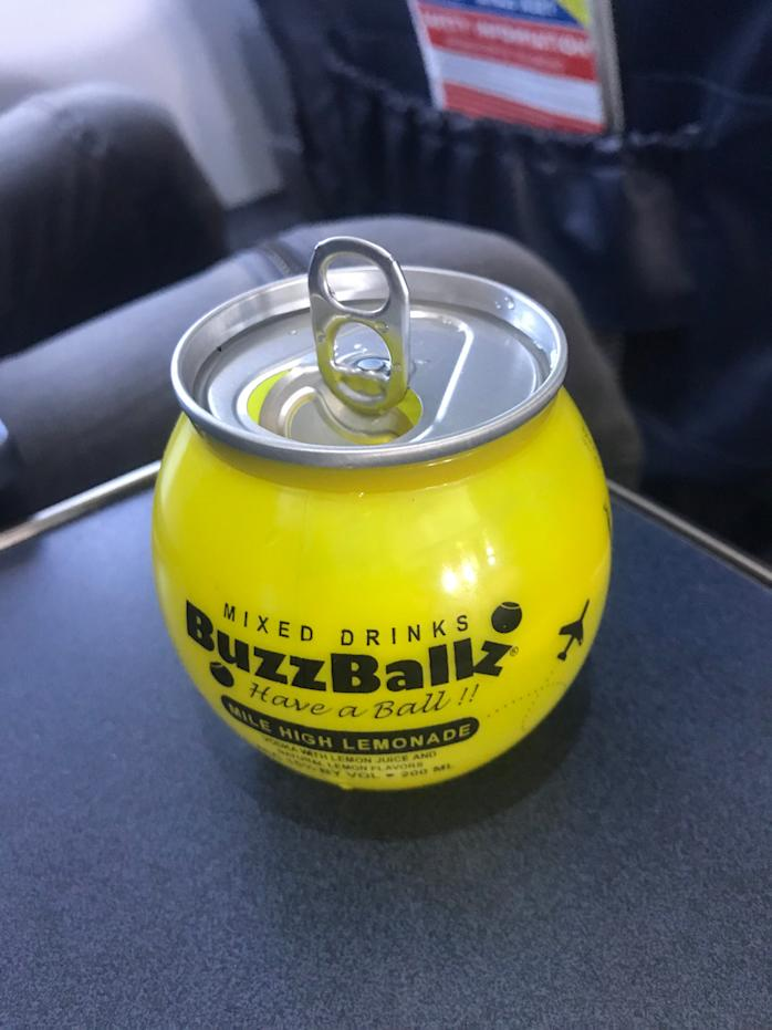Spirit Airlines' in-flight beverage options include a $9 BuzzBallz, a premade cocktail.
