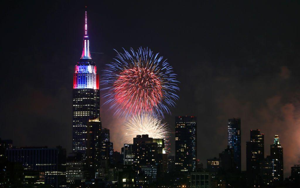"<p>For the 43rd year in a row, the iconic department store Macy's will be wishing America a happy birthday with <a href=""https://www.visitmacysusa.com/event/macys-4th-july-fireworks"" target=""_blank"">the nation's largest fireworks display</a>. This year the display will return to the Brooklyn Bridge (as well as barges positioned along the East River) to celebrate great American cinema. Oscar and Grammy Award-winner is set to sing a tribute to The Wizard of Oz, with additional scores throughout the 25 minute program from <em>Star Wars</em>, <em>Superman</em>, and <em>E.T. </em>Best of all, even if you can't make it to the Big Apple, you can also tune in for the show on NBC from 8-10 p.m. EST. <em></em></p>"