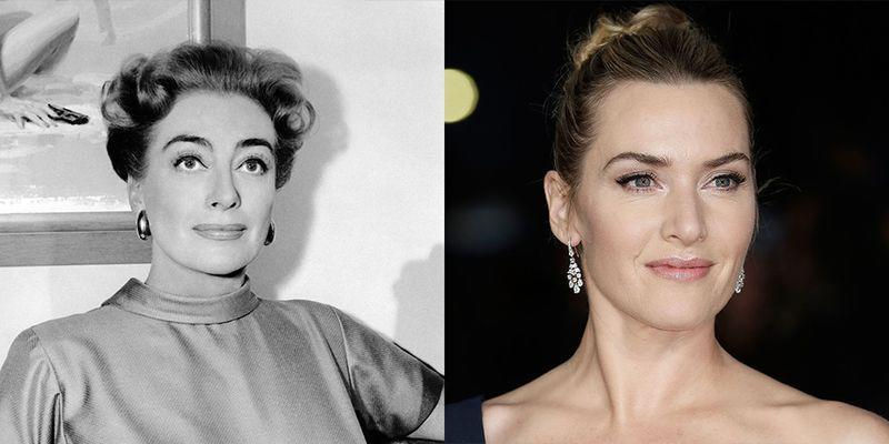<p>Joan Crawford was famous for her high arching brows, which she popularized in the '40s. We think that the same characteristic on Kate Winslet is what makes the two actresses look so much alike.</p>