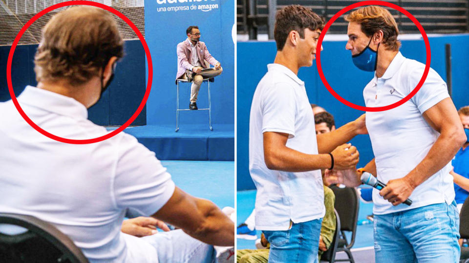 Rafael Nadal, pictured here at his academy in Mallorca.