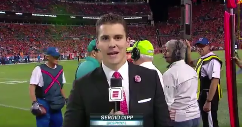 ESPN's Sergio Dipp shares emotional video with statement after ridiculed sideline report