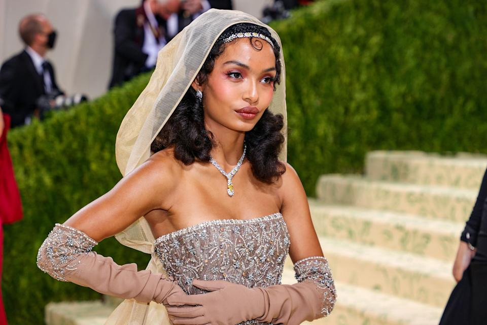 NEW YORK, NEW YORK - SEPTEMBER 13: Yara Shahidi attends The 2021 Met Gala Celebrating In America: A Lexicon Of Fashion at Metropolitan Museum of Art on September 13, 2021 in New York City. (Photo by Theo Wargo/Getty Images)