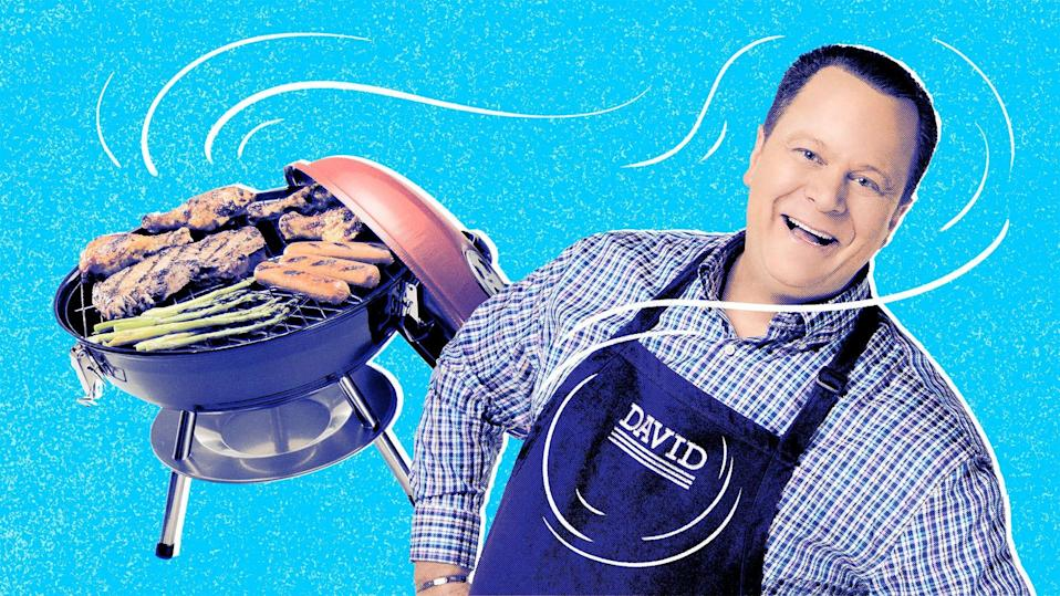 QVC's resident foodie talks grills, platters and even that famous Corky's BBQ sauce.