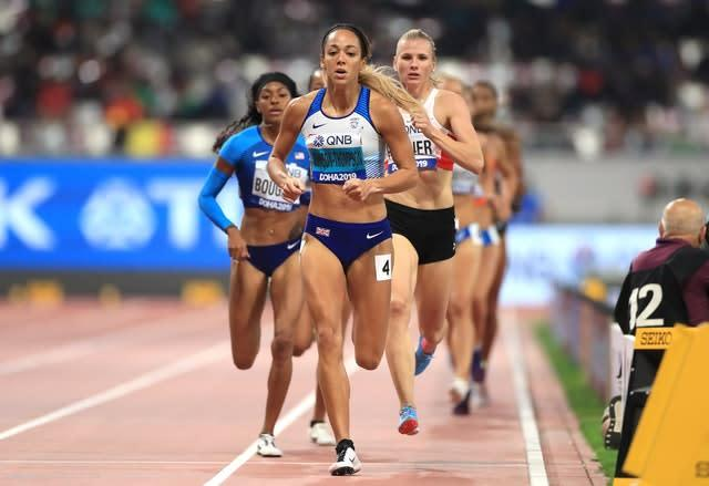 Johnson-Thompson dominated the heptathlon, including winning the final event, the 800 metres (Mike Egerton/PA)