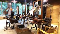 <p>Customers coming for a hair fix will be seated in these comfortable rustic chairs placed in front of full-length mirrors. </p>