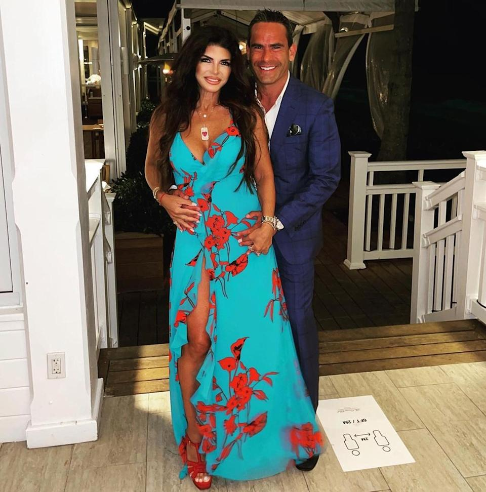 """<p><strong>Location:</strong> Bahamas</p> <p>""""You are today & all of my tomorrows,"""" Teresa Giudice captioned <a href=""""https://www.instagram.com/p/CNV63OVFzXE/"""" rel=""""nofollow noopener"""" target=""""_blank"""" data-ylk=""""slk:this snap"""" class=""""link rapid-noclick-resp"""">this snap</a> from her trip to the Bahamas with boyfriend Louie Ruelas. The love birds stayed at <a href=""""https://www.fourseasons.com/oceanclub/"""" rel=""""nofollow noopener"""" target=""""_blank"""" data-ylk=""""slk:The Ocean Club"""" class=""""link rapid-noclick-resp"""">The Ocean Club</a>, a Four Seasons resort on Paradise Island with five miles of white-sand beaches.</p>"""