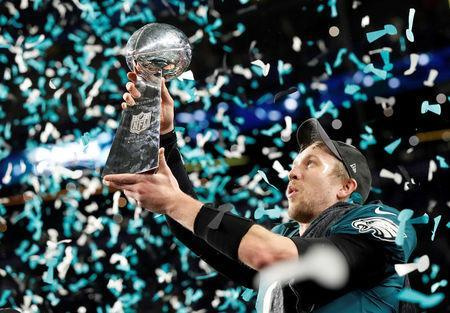 Philadelphia Eagles comemora vitória no Super Bowl 4/2/2018 REUTERS/Kevin Lamarque