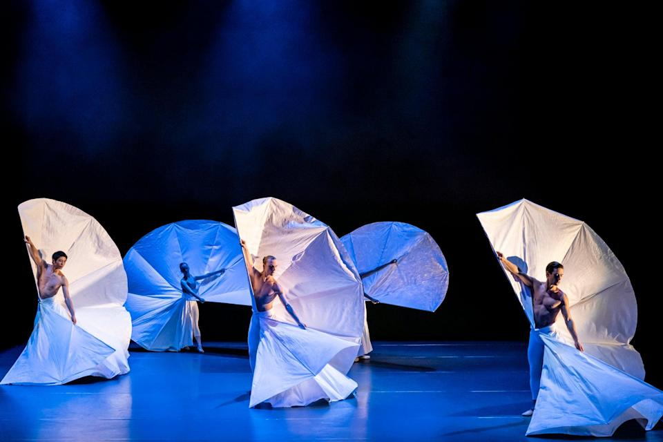 The one-act ballet, called Lazuli Sky, is the first public socially-distanced performance at the venue since lockdown