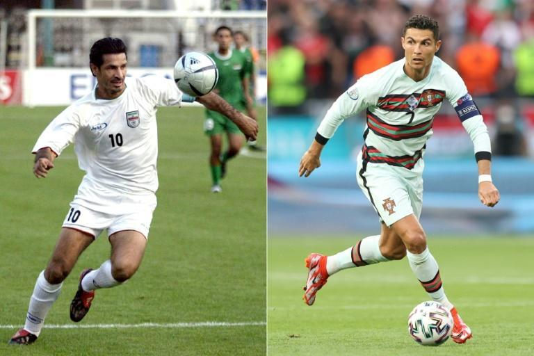 Daei (L) scored an incredible 109 international goals, but Ronaldo is now just three behind
