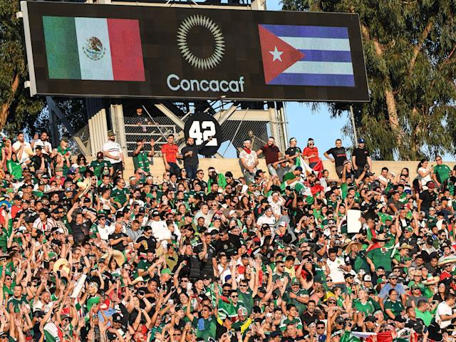 Mexico's 2019 Gold Cup opener was marred by a ritualistic homophobic chant that the Mexican soccer federation and CONCACAF haven't done enough to address. (Getty)