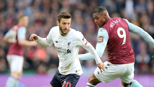 Adam Lallana was handed a rare start in Liverpool's win at Aston Villa and boss Jurgen Klopp was pleased to see him make an impact