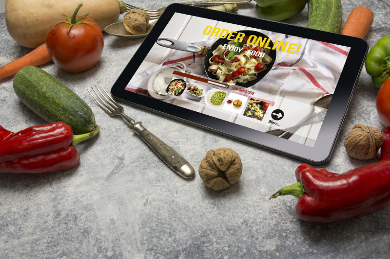 Meal-order page on tablet computer