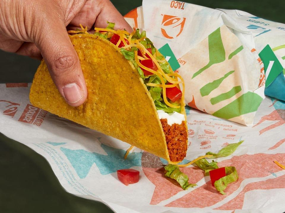 Taco bell cravetarian protein