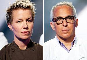 Elizabeth Falkner, Geoffrey Zakarian | Photo Credits: Edward Chen/Food Network