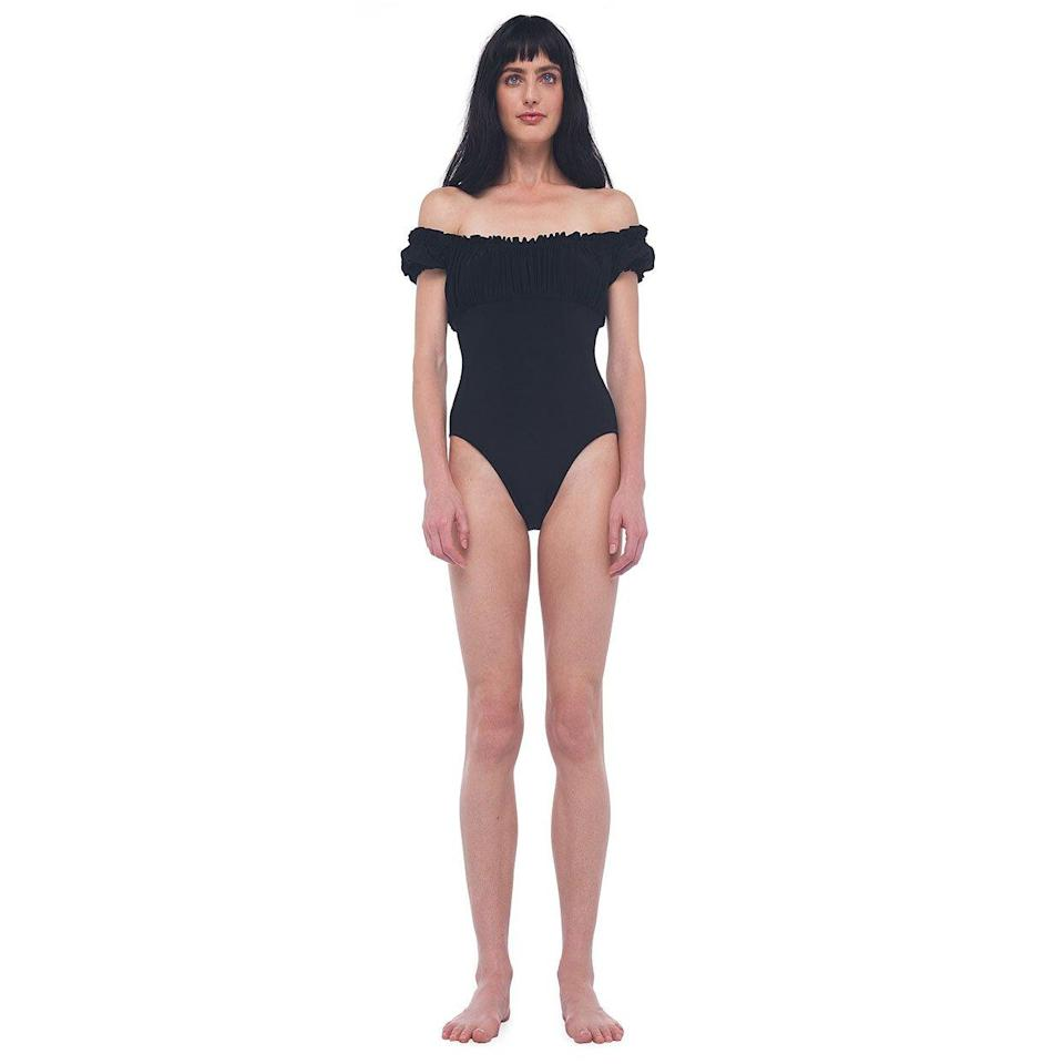 best off the shoulder one piece norma kamali