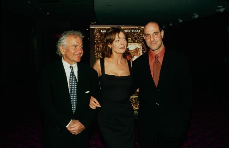 Ian Holm with Susan Sarandon and Stanley Tucci,in 1990 Photo:Getty Images