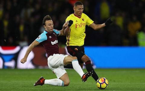 Mark Noble and Richarlison - Credit: Getty